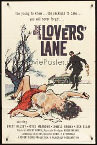 2p276 GIRL IN LOVERS' LANE 1sh '60 sexy bad girl Joyce Meadows is murdered & left half-naked!