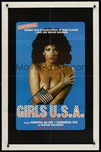 2p279 GIRLS U.S.A. 1sh '80 Erica Boyer, sexy Vanessa del Rio has connections in high places!