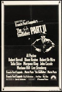 2p283 GODFATHER PART II 1sh '74 Al Pacino in Francis Ford Coppola classic crime sequel!