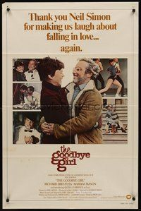 2p292 GOODBYE GIRL 1sh '77 great images of Richard Dreyfuss & Marsha Mason, by Neil Simon