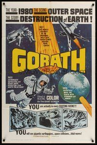 2p295 GORATH 1sh '64 Ishiro Honda's Yosei Gorasu, art of the destruction of Earth!