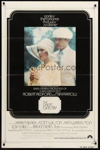 2p302 GREAT GATSBY int'l 1sh '74 Robert Redford, Mia Farrow, from F. Scott Fitzgerald novel!