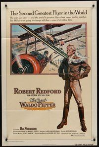 2p306 GREAT WALDO PEPPER 1sh '75 George Roy Hill, Robert Redford, Susan Sarandon, aviation art!