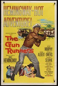 2p312 GUN RUNNERS 1sh '58 Audie Murphy, directed by Don Siegel, written by Ernest Hemingway!