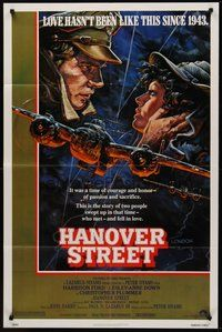 2p317 HANOVER STREET 1sh '79 cool art of Harrison Ford & Lesley-Anne Down in World War II!