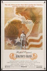 2p325 HEAVEN'S GATE 1sh '81 Michael Cimino, Tom Jung art of Kris Kristofferson & Isabelle Huppert!