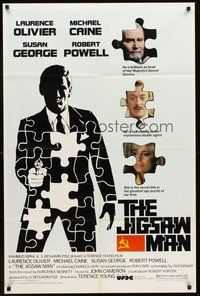 2p408 JIGSAW MAN 1sh '83 Laurence Olivier, Michael Caine, Susan George, cool art of spy!