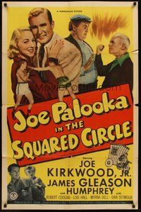 2p409 JOE PALOOKA IN THE SQUARED CIRCLE 1sh '50 boxing Joe Kirkwood Jr., James Gleason, Coogan!