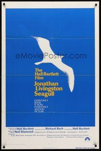 2p410 JONATHAN LIVINGSTON SEAGULL 1sh '73 great bird image, from Richard Bach's book!