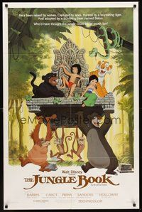 2p414 JUNGLE BOOK 1sh R84 Walt Disney cartoon classic, great image of all characters!