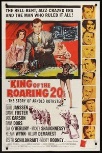 2p426 KING OF THE ROARING 20'S 1sh '61 poker, gambling & sexy Diana Dors in the hell-bent jazz era!
