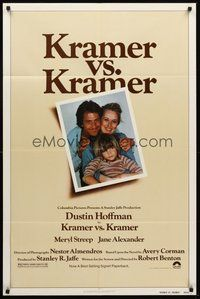 2p432 KRAMER VS. KRAMER 1sh '79 Dustin Hoffman, Meryl Streep, child custody & divorce!