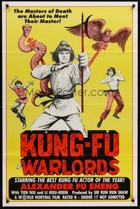 2p436 KUNG-FU WARLORDS 1sh '83 the masters of death are about to meet their master!