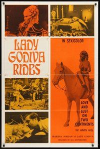 2p441 LADY GODIVA RIDES 1sh '69 sexy Marsha Jordan, love and lust on two continents!