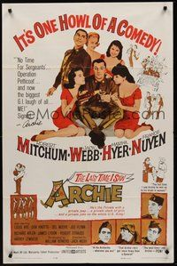 2p448 LAST TIME I SAW ARCHIE 1sh '61 Robert Mitchum & Jack Webb in a jeep full of sexy girls!