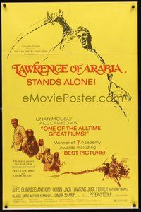 2p450 LAWRENCE OF ARABIA 1sh R71 David Lean classic starring Peter O'Toole, cool art!