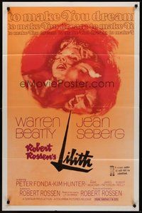 2p458 LILITH 1sh '64 Warren Beatty, before Eve, there was evil, and her name was Jean Seberg!