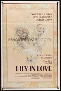 2p459 LILY IN LOVE 1sh '85 Karoly Makk, Christopher Plummer, Maggie Smith, Rosenthal art of cast!