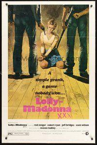2p466 LOLLY-MADONNA XXX revised style B 1sh '73 artwork of hostage Season Hubley held at gunpoint!