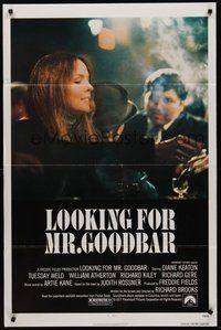 2p469 LOOKING FOR MR. GOODBAR 1sh '77 close up of Diane Keaton, directed by Richard Brooks!