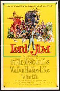 2p470 LORD JIM 1sh '65 Peter O'Toole, James Mason, Curt Jurgens, Eli Wallach