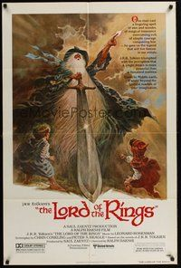 2p471 LORD OF THE RINGS 1sh '78 J.R.R. Tolkien classic, Bakshi, Tom Jung fantasy art!