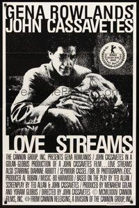 2p476 LOVE STREAMS Canadian 1sh '84 great image of John Cassavetes & Gena Rowlands!