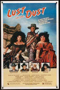 2p481 LUST IN THE DUST 1sh '84 Divine, Tab Hunter, together they ravaged the land, wild image!