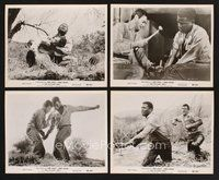 2r027 DEFIANT ONES 28 8x10 stills '58 escaped cons Tony Curtis & Sidney Poitier chained together!