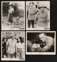 2r007 ROOTS OF HEAVEN 50 8x10 stills '58 Trevor Howard, Errol Flynn & sexy Julie Greco in Africa!