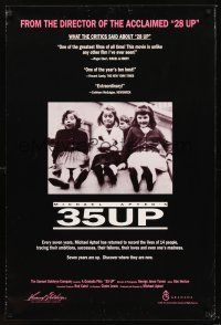 2y013 35 UP arthouse 1sh '91 Michael Apted English documentary!