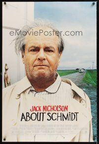 2y017 ABOUT SCHMIDT DS 1sh '02 Alexander Payne directed, great Jack Nicholson image!
