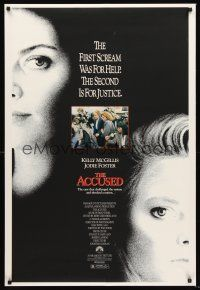 2y019 ACCUSED 1sh '88 Jodie Foster, Kelly McGillis, the case that shocked a nation!