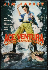 2y020 ACE VENTURA WHEN NATURE CALLS teaser 1sh '95 directed by Steve Oedekerk, wacky Jim Carrey!