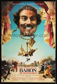 2y028 ADVENTURES OF BARON MUNCHAUSEN 1sh '89 directed by Terry Gilliam, John Neville!