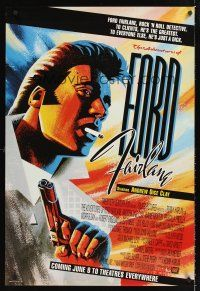 2y029 ADVENTURES OF FORD FAIRLANE advance DS 1sh '90 cool artwork of Andrew Dice Clay!