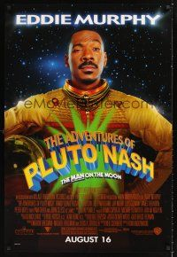 2y031 ADVENTURES OF PLUTO NASH advance 1sh '02 Eddie Murphy in space, the man on the moon!