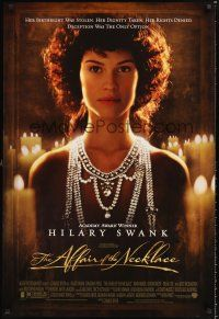 2y035 AFFAIR OF THE NECKLACE 1sh '01 Hilary Swank, Christopher Walken & Jonathon Pryce!