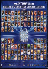 2y036 AFI'S 100 YEARS 100 STARS video 1sh '99 images of classic posters w/Gilda, Casablanca & more!