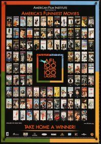 2y037 AFI'S 100 YEARS 100 LAUGHS video 1sh '00 great images of classic comedies!