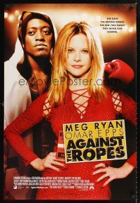 2y040 AGAINST THE ROPES int'l DS 1sh '04 sexy Meg Ryan, Omar Epps, boxing!