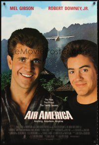 2y042 AIR AMERICA int'l 1sh '90 Mel Gibson & Robert Downey Jr. are flying for the CIA!