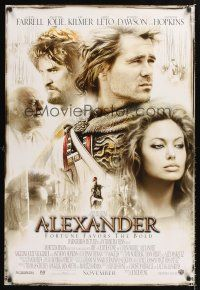 2y048 ALEXANDER advance DS 1sh '04 directed by Oliver Stone, Colin Farrell & pretty Angelina Jolie!