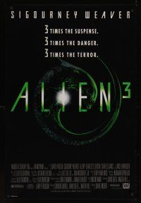 2y051 ALIEN 3 1sh '92 Sigourney Weaver, 3 times the danger, 3 times the terror!