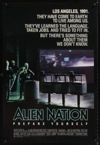2y052 ALIEN NATION 1sh '88 they've come to Earth to live among us, they learned our language!
