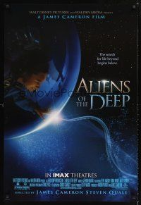 2y053 ALIENS OF THE DEEP IMAX DS 1sh '05 James Cameron directed, cool underwater image!