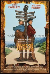 2y057 ALMOST HEROES 1sh '98 Chris Farley & Matthew Perry are mostly ridiculous!