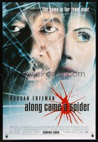 2y059 ALONG CAME A SPIDER advance DS 1sh '01 Morgan Freeman & Monica Potter!