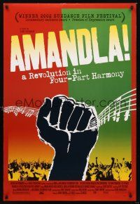 2y062 AMANDLA DS 1sh '02 colorful art from South African musical revolution!