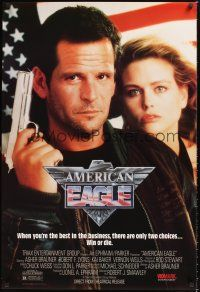 2y064 AMERICAN EAGLE video 1sh '89 when you're the best, there are only two choices...Win or die!